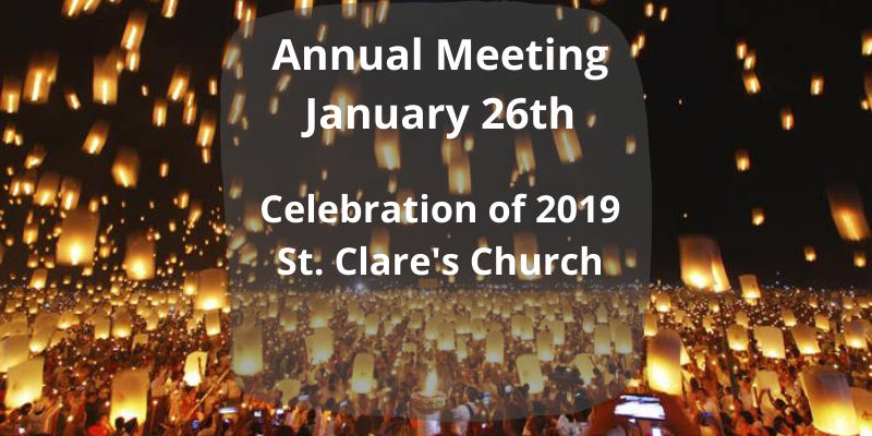 Annual Meeting and Nominees for 2020 Vestry
