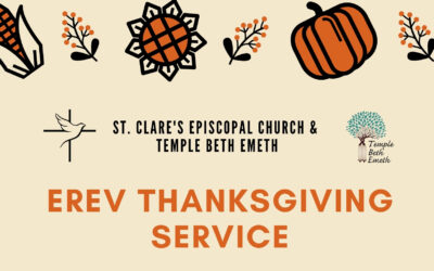 Erev Thanksgiving Service on Sunday, November 22